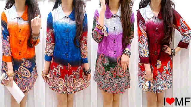 Blus Rayon Kombi Kemeja Batik Desain Kemeja Kerja